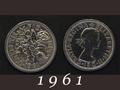 1961年 6ペンスコイン