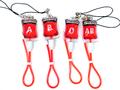 血液型輸血ストラップ