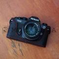 Nikon(ニコン) FM/FM2/FM3A/FE/FE2 用 本革カメラケース(ブラック)