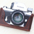 Nikon(ニコン) F用 本革カメラケース(アンティークブラウン)