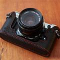 Canon(キャノン) AE-1用 本革カメラケース(ブラック)