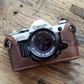 Canon(キャノン) AE-1用 本革カメラケース(レトロブラウン)