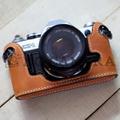 Canon(キャノン) AE-1用 本革カメラケース(ライトブラウン)
