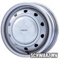 【スチールホイール】<SCHWARZ MV 13×4.50B・8H>(4枚)