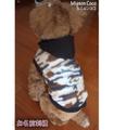 犬服 お名前刺繍 わんちゃん服 刺繍 迷彩柄 フリースブルゾン  S Ⅿ L