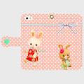 iPhone手帳型(レトロうさうさPP)5/5s/SE/6/6s/7