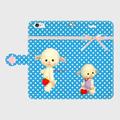 iPhone手帳型(レトロひつじB)6Plus/6sPlus/7Plus/8Plus