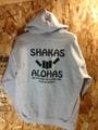 """SHAKASxALOHAS """"BLACK SHAKA"""" フードパーカー (GREY)"""