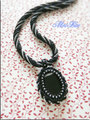 オニキス刺繍ネックレス