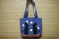 刺繍トートバッグ(デニム×黒うさぎ)