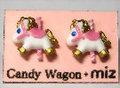 回転木馬ピアス(白)【CandyWagon×miz】