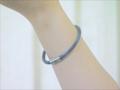 健康ブレスレット (手首用シリコン製) (黒)