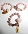 バラの花の指輪・天然石(15S1)