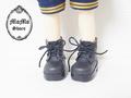 幼SD編み上げショートブーツ 黒