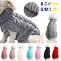 犬の服/中小犬のニット/暖かいプルオーバーニット/ペットタートルネックニットセーター
