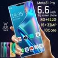 8 +512 GBの大容量メモリを搭載したMate31 Proスマートフォン6.6インチHDサポート顔/指紋ロック解除4GデュアルSIM携帯電話