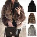 暖かい高品質の毛皮のコート/レディースカジュアル/ふわふわルーズフード付きジャケット