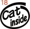 INO-018:Cat inside ステッカー(2マーク1セット)