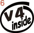 CIO-006:V4 inside ステッカー(2マーク1セット)