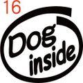 INO-016:Dog inside ステッカー(2マーク1セット)