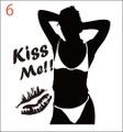 SEKI-06:SexyGirl KissMe!! (セクシー・キスミー)ステッカー
