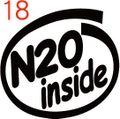 CIO-018:N2O inside ステッカー(2マーク1セット)