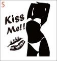 SEKI-05:SexyGirl KissMe!! (セクシー・キスミー)ステッカー