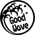 NAMI-1-4:GoodWave  (サーフィン)ステッカー(2マーク1セット)