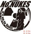 NUKE-H:脱原発(原発反対・核廃棄) No NUKES!! ステッカー
