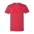 A7フィットネスTシャツ 赤/赤【送料360円発送可能】