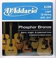 EJ38 D'Addario(ダダリオ) 12弦 10-47 Light Phosphor Bronze  1030円