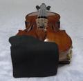 セーム革製 バイオリン用あご当てカバー(ガルネリモデル用) ブラック