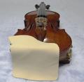 セーム革製 バイオリン用あご当てカバー(ガルネリモデル用) ナチュラル