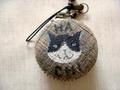 手描き猫のマカロンケース(B)