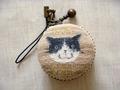 手描き猫のマカロンケース(A)