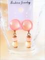 【新着!】桃色キャンディカラーのイヤリング
