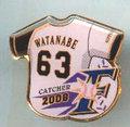 日本ハム◆2008年ピンズ【WATANABE-63】