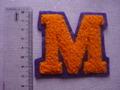 もこもこワッペン M オレンジ