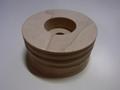 コバ磨き用 木バフ 穴径:10mm アウトレット