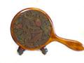 手鏡(大)クチナシ彫り