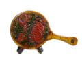 木彫り手鏡(大)菊彫り