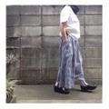 こまたスカート 基本形 ネイビーギンガム