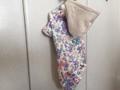 L 花柄半袖パーカー
