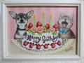 猫とチワワのhappy birthday