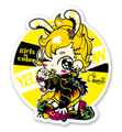 """""""Girls in color""""ステッカー★YELLOW"""