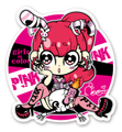 """""""Girls in color""""ステッカー★PINK"""