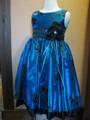◆送料お得プラン商品◆(G-110-58)ブルーのドレス110cm