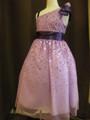 (G-130-66)ワンショルダーの素敵なドレス130cm