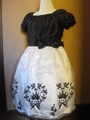 (G-110-53)刺繍が可愛いツートーンドレス110cm