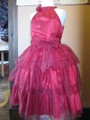 (G-130-77)シックなレッドのドレス130cm
